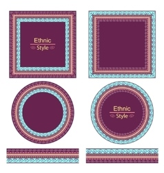 set of decorative elements vector image vector image