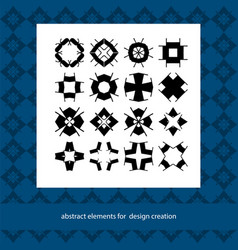 stylish creative geometric signs suits for vector image vector image