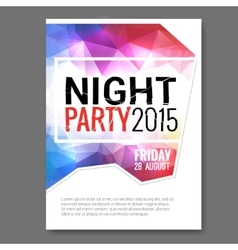 Summer Night Beach Party Flyer Template vector image