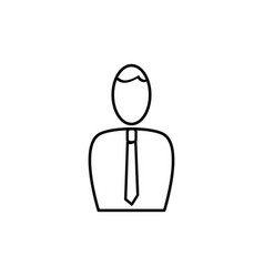 employee icon vector image vector image