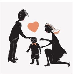 Of A Family vector image vector image
