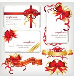 ribbons borders vector image vector image