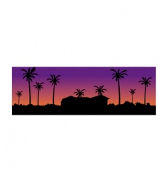 villa background vector image vector image