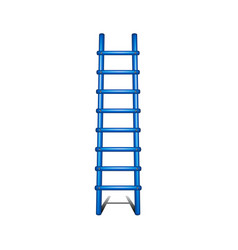 wooden ladder in blue design with shadow leading u vector image