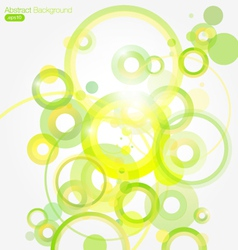 Green Abstract Colorful background vector image vector image