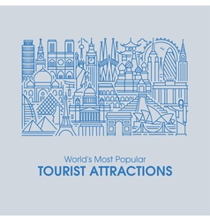 Worlds most popular tourist attractions vector