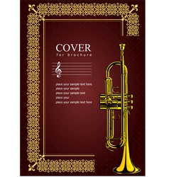 al 0535 cover with trumpet vector image