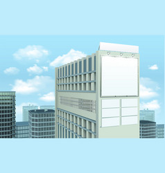 billboard on building cityscape composition vector image