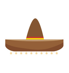colorful traditional mexican hat design vector image