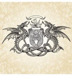 dragons illustration vector image