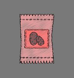 flat shading style icon potato seeds vector image