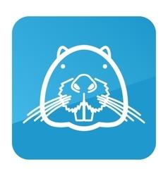 Otter beaver icon Animal head vector image vector image