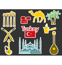 Patches elements Turkey vector image vector image