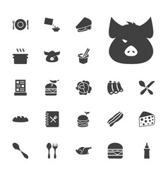22 meal icons vector