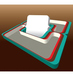 60s styled 3D frame vector image