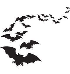 A flock of bats vector
