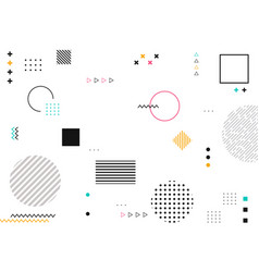 abstract geometric shapes of colorful modern vector image