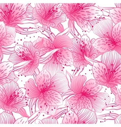 Abstract gradient seamless flower pattern with vector image