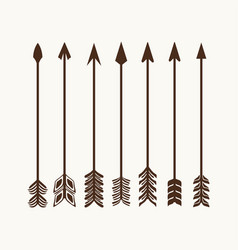 Arrows set for logo vector