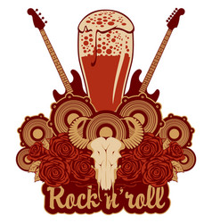 Banner for a rock pub with hard live music vector