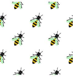 Bee pattern flat vector