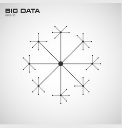 Big data visualization connection structure vector