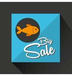 big sale concept seafood fresh fish vector image