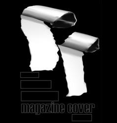 Black magazine cover vector