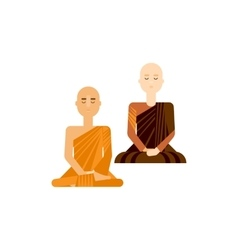 Buddhist men and women vector image