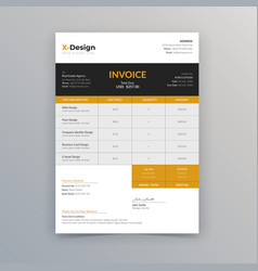 Business invoice template design vector