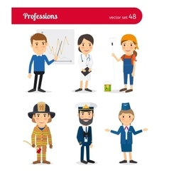 Businessman md female worker and firefighter vector