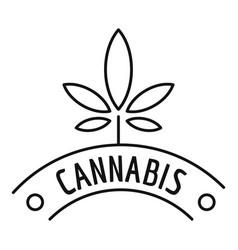 Cannabis company logo outline style vector