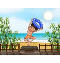 Cartoon Beach Boy vector