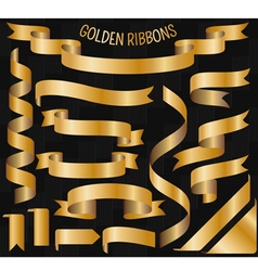 Cartoon golden ribbons vector image