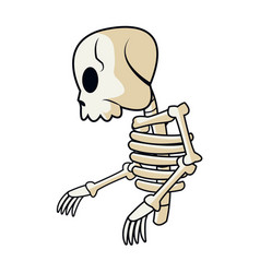 cartoon skeleton bones mystery fairy tale vector image