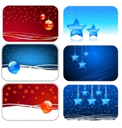 Christmas cards Happy new year cards vector image