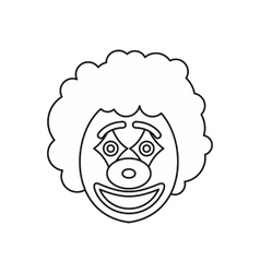 Circus clown icon outline style vector