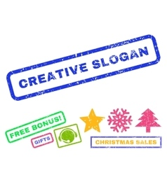Creative Slogan Rubber Stamp vector