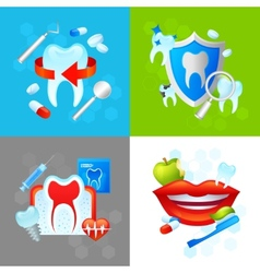 Dental Design Concept vector image