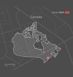 dotted canada map vector image