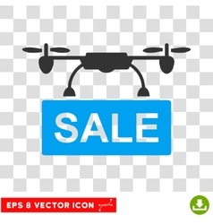 Drone Sale Eps Icon vector