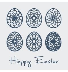 Easter ornamental eggs vector