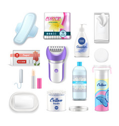 female hygiene and daily health care products vector image