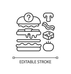 Food constructor linear icon vector