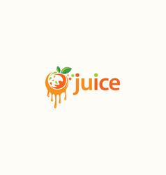 Fruit juice logo design fresh drink logo vector