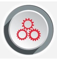 Gear icon Cogwheel industrial symbol Red sign on vector