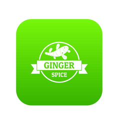 ginger spice icon green vector image