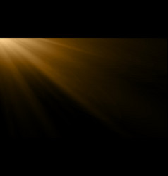 gold light ray or sun beam background abstract vector image