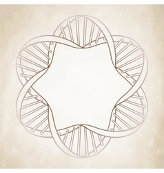 Graphic dna circle frame vector