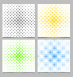 halftone heart pattern background set - love vector image